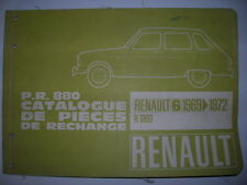 CATALOGUE PIECE RECHANGE PR 880 OCCASION ORIGINE RENAULT D'EPOQUE