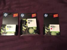 HP 920XL OfficeJet Black, Magenta and Yellow ink NEW IN PACKAGE Expired 2012