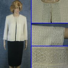 STUNNING! ST JOHN COUTURE SHIMMER KNIT JACKET LINED DAY OR EVENING SZ 14 16 XL