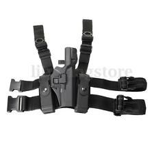 Tactical Right Drop Leg Thigh Level 3 Lock Duty Pistol Holster Glock 17 19 22 31