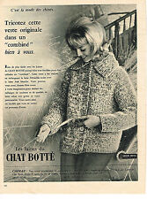 PUBLICITE ADVERTISING 014   1960   CHAT BOTTE   laines