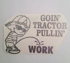 TRACTOR pulling plow pee DECAL allis chalmers kubota CUB CADET sticker OLIVER