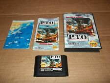 P.T.O. Pacific Theater of Operations (Sega Genesis, 1993) MAP INCLUDED