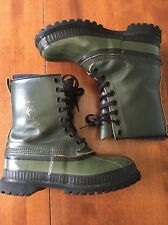 Sorel Mark V winter snow boots mens 9 military style mark 5 OD green canada Vtg