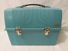 Vintage Aqua Blue THERMOS Lunch Box & Thermos Set, MADE IN USA