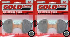 GOLDFREN FRONT BRAKE PADS (2x Sets) * HARLEY-DAVIDSON * GIRLING CALIPER * (1994)