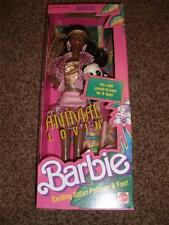 Vintage Animal Lovin Barbie Black Doll NRFB Panda 4824 Mattel Safari 1989 MInt