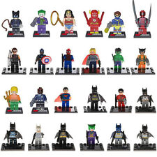Batman Spiderman Thor Wolverine Cpt America Deadpool 24PCS Minifigs Building Toy