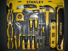 Stanley Mixed HandTool Set 62 Piece Hammer Level Tape Measure Knife Pliers NEW
