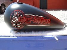 Harley-Davidson Dyna Wide Glide Black Fuel Gas Tank Fuel Injected 04-13