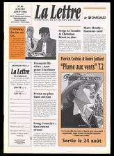 LA LETTRE DARGAUD N ° 30    PLUME AUX VENTS  JUILLARD       Juil / Aout  1996