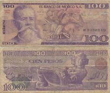 100 Pesos. Méjico D. F. Banco de México S. A. 27 de Enero. Serie RN.