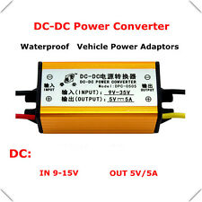 Waterproof 12V/24V to 5V 5A DC-DC Voltage Converter Buck Module Car Regulator