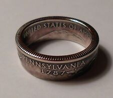 Handmade Coin Rings from State quarters Sizes 5-14 Double Sided Rings