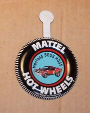 HOT WHEELS Mattel Vintage Redline MUSTANG BOSS HOSS Tin Button Badge NICE
