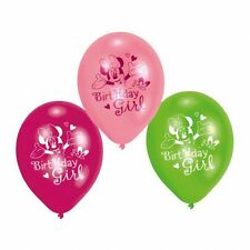 Fiesta Pack de 6 Látex Disney Minnie Mouse Birthday Girl Globos Decoración