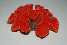 Detailed Aquarium Coral Reef Decoration Red Sponge Type 15 x 12 x 5 cms