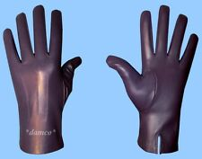 NEW MENS size 9.5 GENUINE PURPLE LAMBSKIN LEATHER DRESS GLOVES with SILK LINING