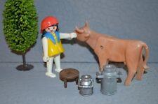 8088 playmobil boerin melken koe boerderij 3499