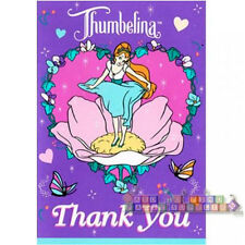 THUMBELINA VINTAGE THANK YOU NOTES (8) ~ Birthday Party Supplies Thanks Cards