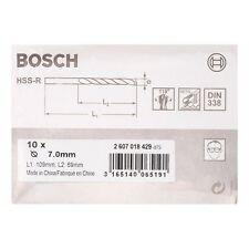 Bosch Metal drill bits HSS-R. DIN 338 7 x 69 x 109 mm 2607018429