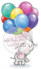 New Wild Rose Studio Clear rubber stamp Bella bunch of balloons free us ship