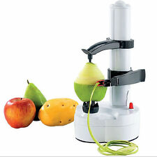 New Electric Potato Peeler Automatic Pear Apple Fruit Cutter Slicer Kitchen Tool