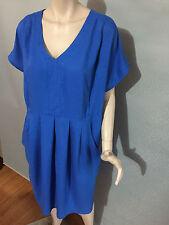 BNWT Womens Sz 18 Autograph Brand Soft Viscose Cobalt Blue Shift Dress RRP $90