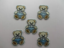 Small Teddy (Blue Pants ) Iron/Sew on Patches x 5