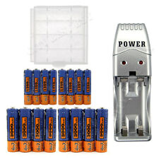 8x AA 3000mAh + 8x AAA 1350mAh NiMH Rechargeable Battery + USB Charger + Case