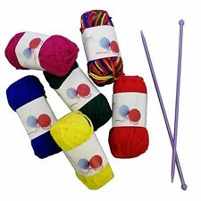 Craft Knitting Starter Kit De 6 Bolas De Hilo / Lana 20g Multicolor De 5mm Agujas Hobby