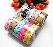 10yards mixed 10color sewing satin grosgrain ribbon lot wholesale AQ-003