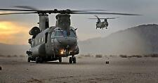 RAF Chinook Helicopters 18 Squadron Desert Vortex Warrior 12x6 Inch Repro Photo