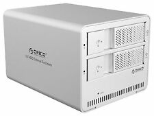 "ORICO 2-Bay Tool free USB 3.0 Enclosure Case for 3.5"" SATA HHD or SSD - 9528U3"