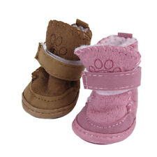 New Lovely Winter Warm Pet Dog Shoes Anti Slip Snow Boots For Small Pet Puppy UR