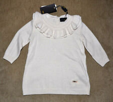 New Authentic FENDI Infant Baby Girl Cashmere Wool Beige Sweater Dress (3 Mnths)