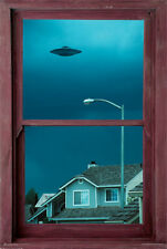 UFO WINDOW POSTER (91x61cm)  PICTURE PRINT NEW ART