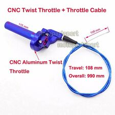 1/4 Turn CNC Twist Throttle Cable For Dirt Bike Suzuki DR 100 125 200  Motocross