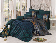 Bedding Set Queen Retro Queen 3 Pieces Linen Satin Duvet Quilt Cover Egyptian
