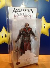 "Assassins Creed Fratellanza Ezio (con scappellamento) Ebony Costume 7"" NECA ACTION FIGURE"
