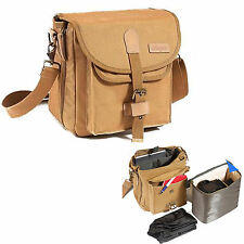 Waterproof Canvas DSLR Camera Bag Case For Olympus OM-D E-M1,E-M5 Mark II