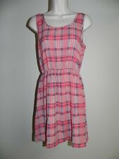 Pink Owl Dress Mulit-Color Medium Womens Bow on Back Sleeveless NWT