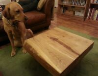 Coffee table solid oak contemporary 60x60x30 French oak new  hand made retro