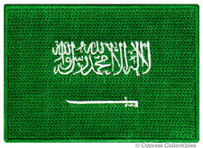SAUDI ARABIA FLAG embroidered iron-on PATCH ARABIAN MUSLIM MECCA MEDINA ARAB new