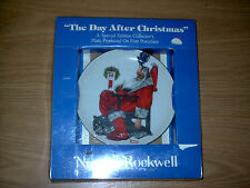 NEW COLLECTORS PLATE THE DAY AFTER CHRISTMAS BY NORMAN ROCKWELL SEALED IN BOX