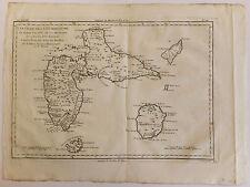 Carte Guadeloupe map Bonne Encyclopédie 18ème siècle