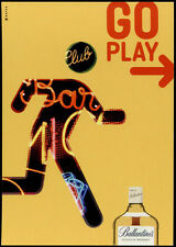 cartolina pubblicitaria PROMOCARD n.3044 BALLANTINE'S SCOTCH WHISKY GO PLAY