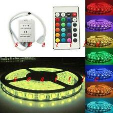 5M RGB 5050SMD Waterproof 300LED Light Strip Flexible 60led/m + 24Key IR Remote