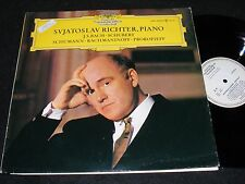 White Label DEUTSCHE GRAMMOPHON LP Svjatoslav Richter PIANO 1965 BACH Schubert +