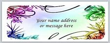 30 Personalized Return Address Labels Flowers Buy 3 get 1 free (bo454)